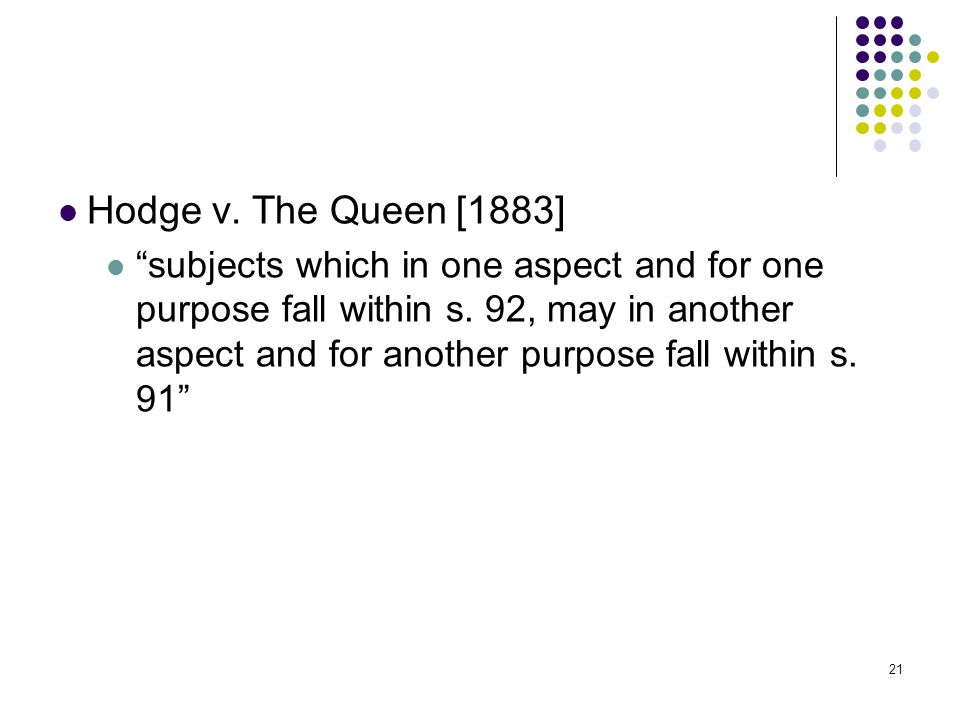 Hodge v. The Queen [1883]
